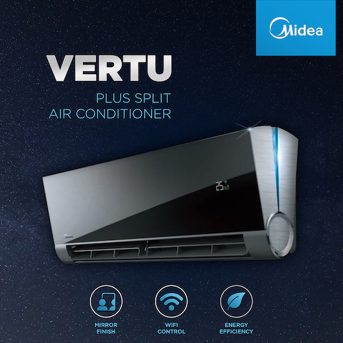 Air Conditioners in Malta have just become more elegant with the arrival of the new Midea Vertu Plus
